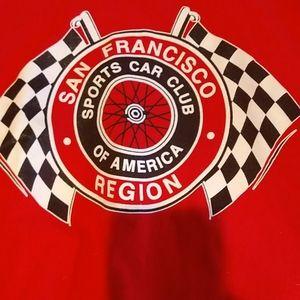 San Francisco Sports Car Club Red T Shirt - Large